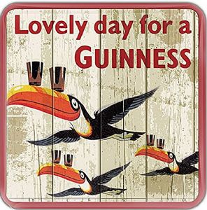 Guinness Flying Toucans cork backed drinks coaster  100mm x 100mm (sg)